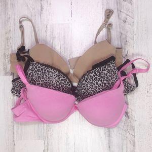 Victoria's Secret 36D Bundle Demi Plunge Bras
